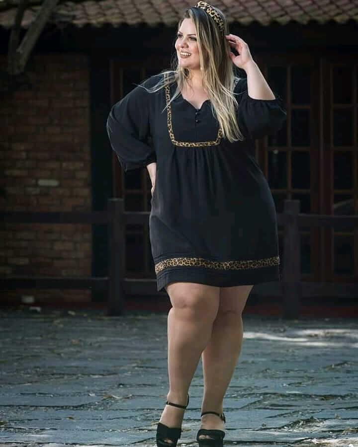 vestido de fiesta negro corto para gorditas