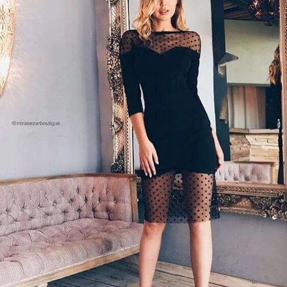vestidos de fiesta negros cortos