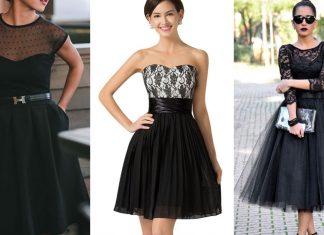 Vestidos de fiesta para noche color negro