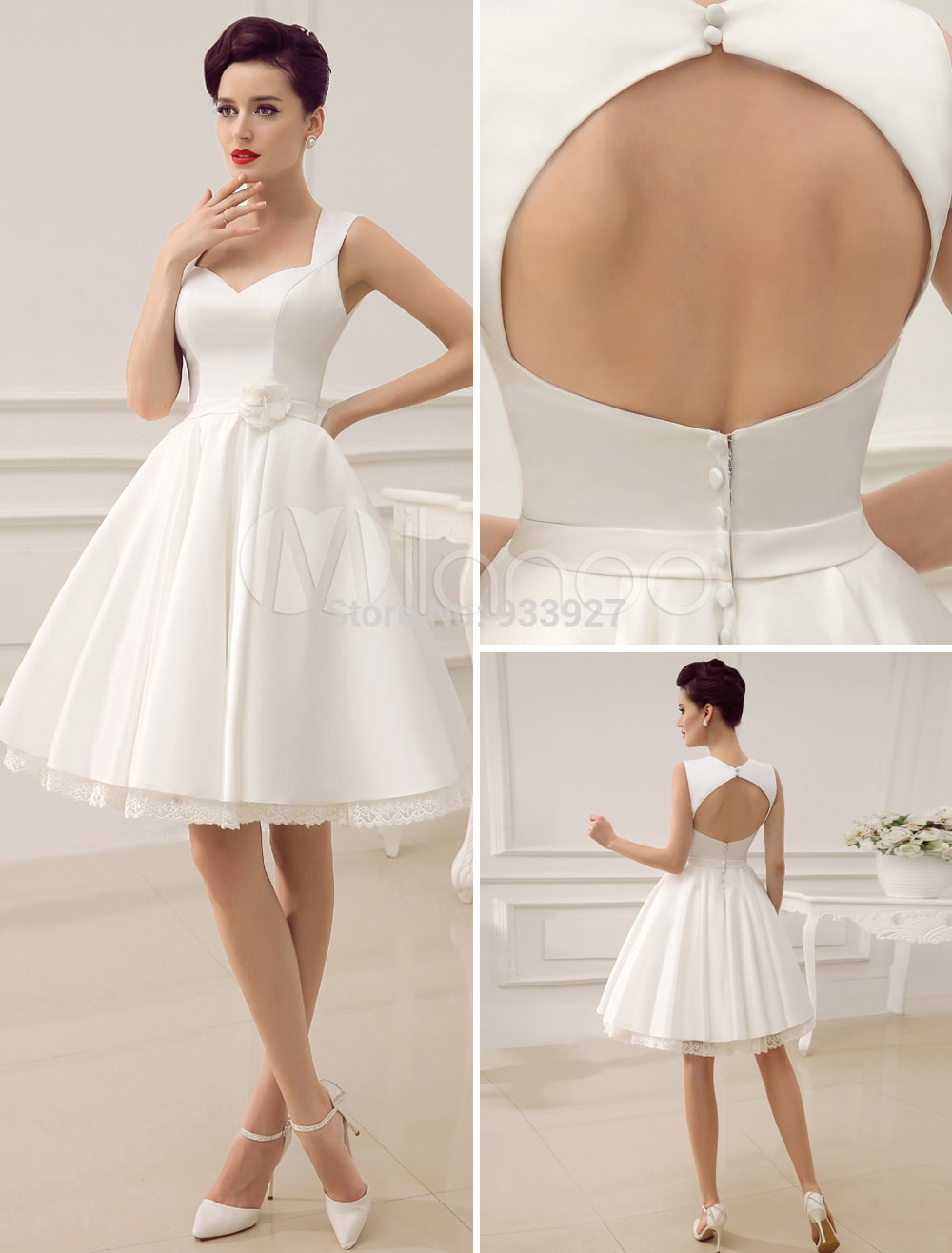 vestidos de novia corto sencillo moderno