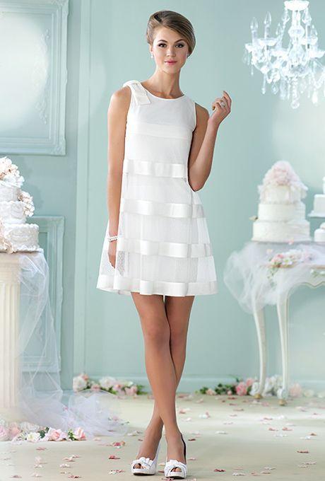 Vestido de novia corto juvenil