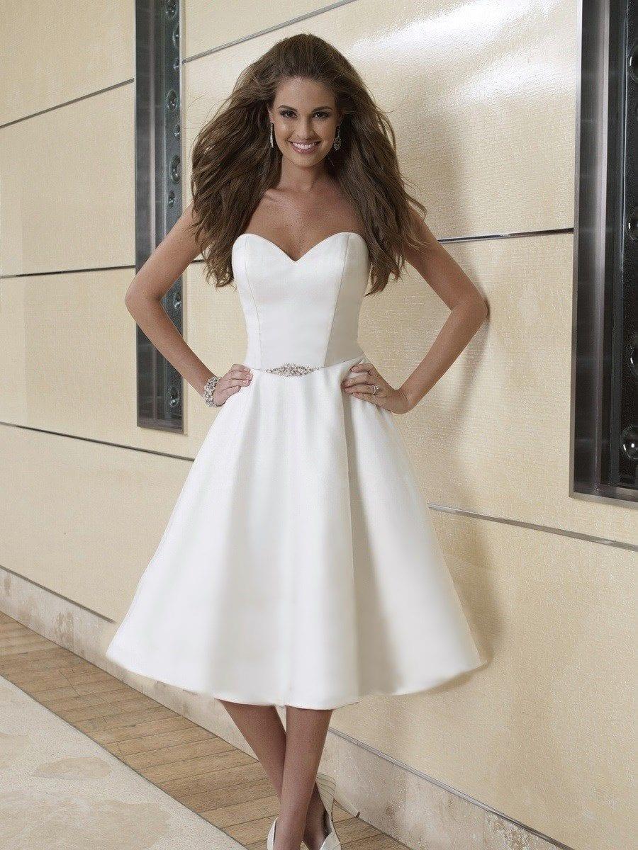 eab34cbc8 ▷ Los mejores Vestidos de Novia cortos para tu boda ⭐️
