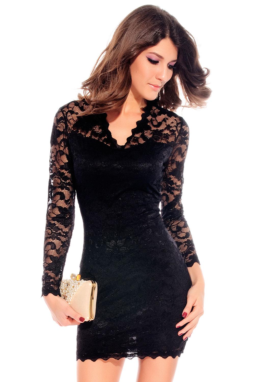 Vestidos cortos y negros