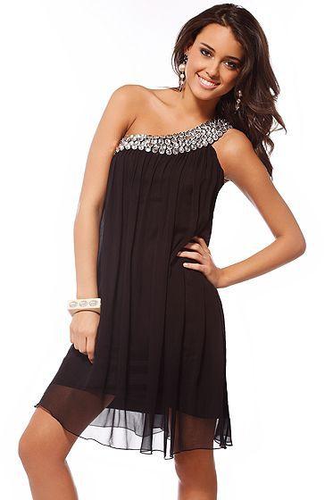 vestidos fiesta negro cortos