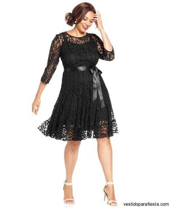 vestidos negros fiesta para gorditas