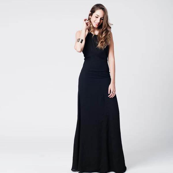 vestidos negros largos fiesta