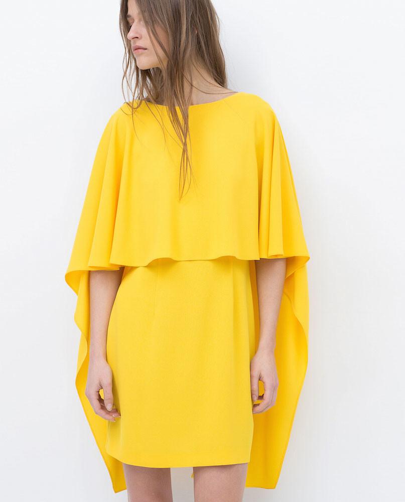 Vestido corto con capa 3