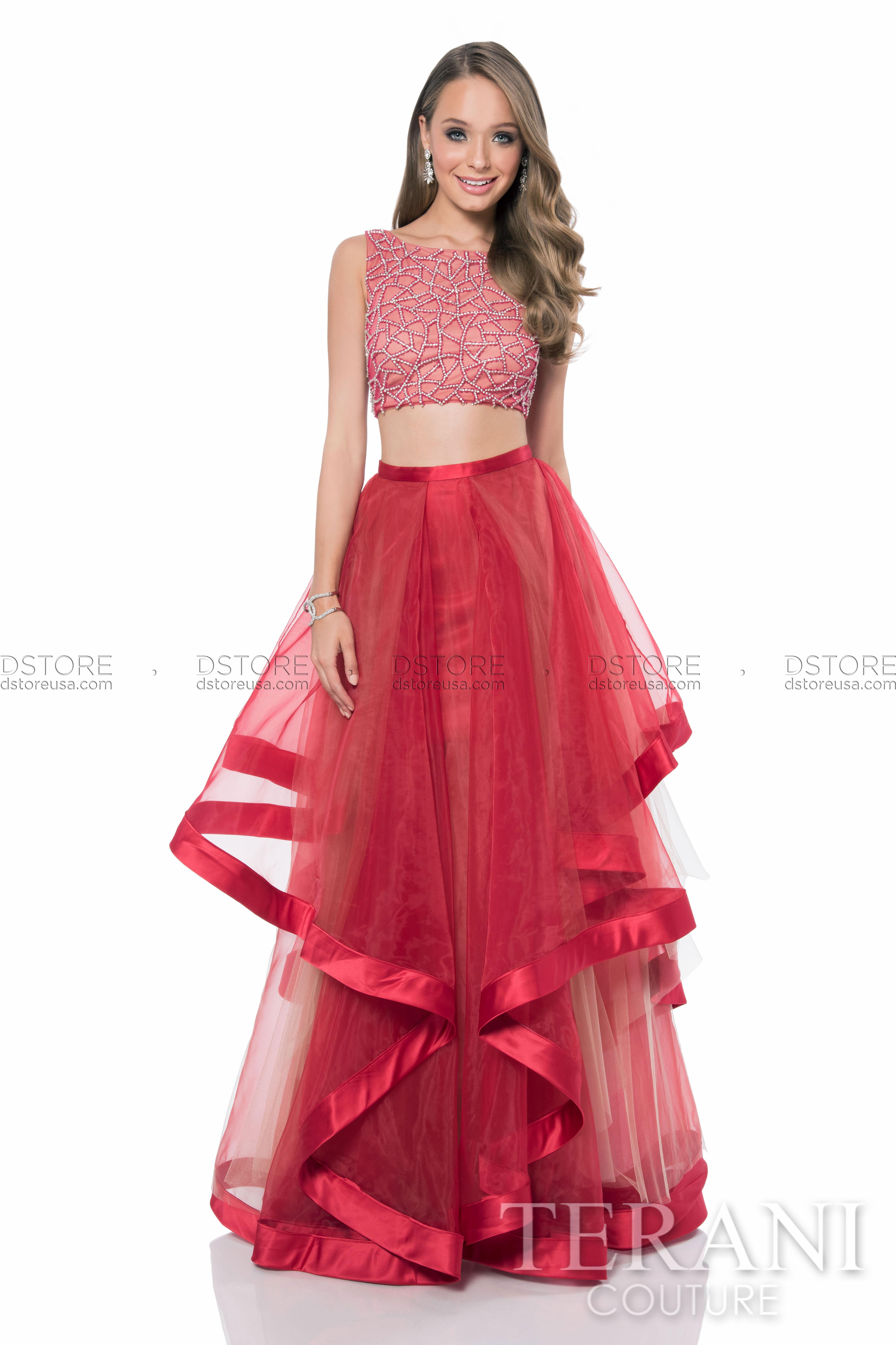 Vestidos de dos piezas la sensación de finales del 2016 - Vestidos Glam