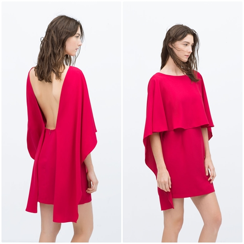 Vestido corto con capa 16