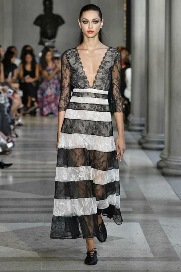 v-neck_striped_chantilly_lace_midi_dress