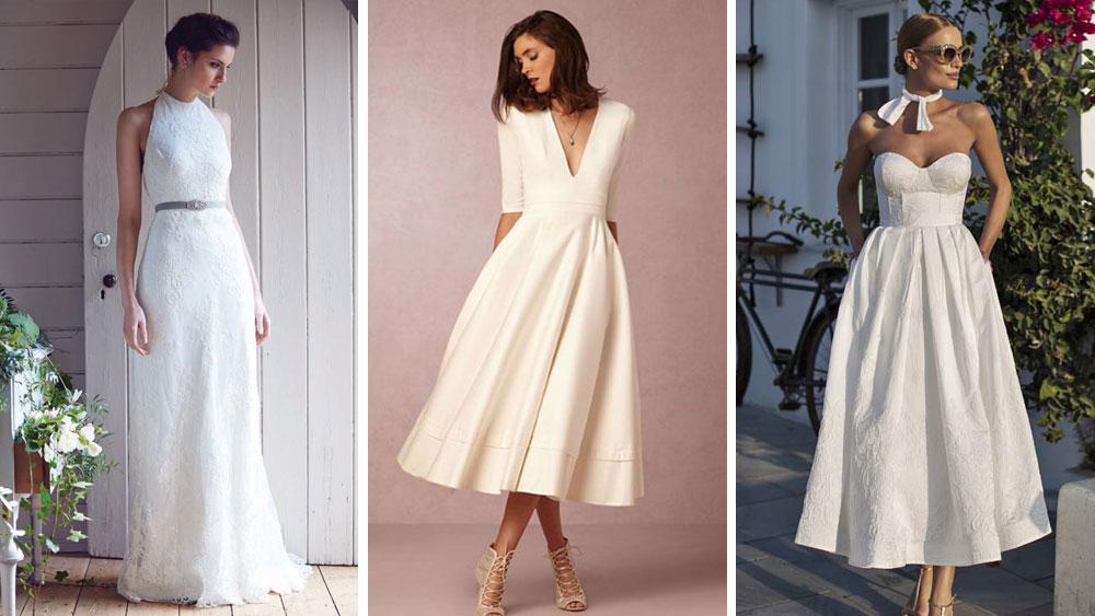 Vestidos de Novias minimalistas para el final del 2016   Vestidos Glam