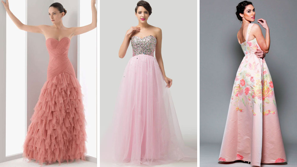 30 Vestidos Color Rosa Largos Y Cortos Para Fiestas