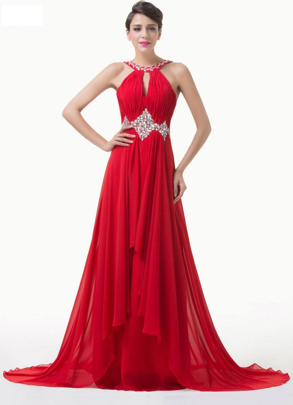 30 Vestidos De Fiesta Largos En Color Rojo