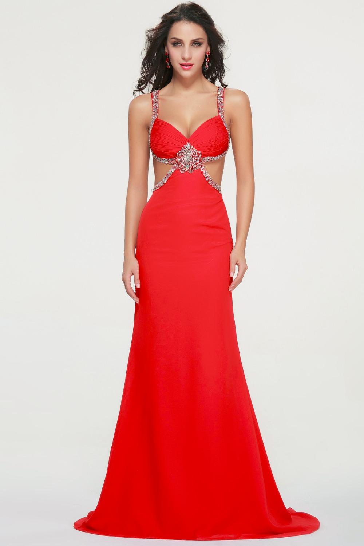 Vestidos rojos largos de fiesta de noche