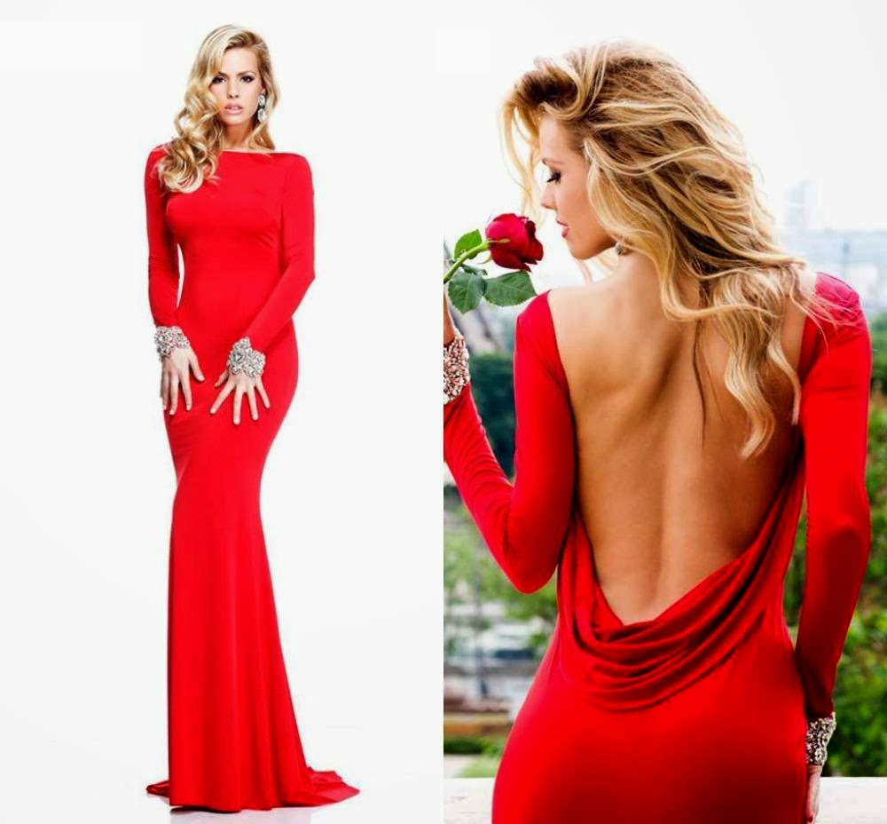 Vestidos de fiesta de noche cortos elegantes rojos