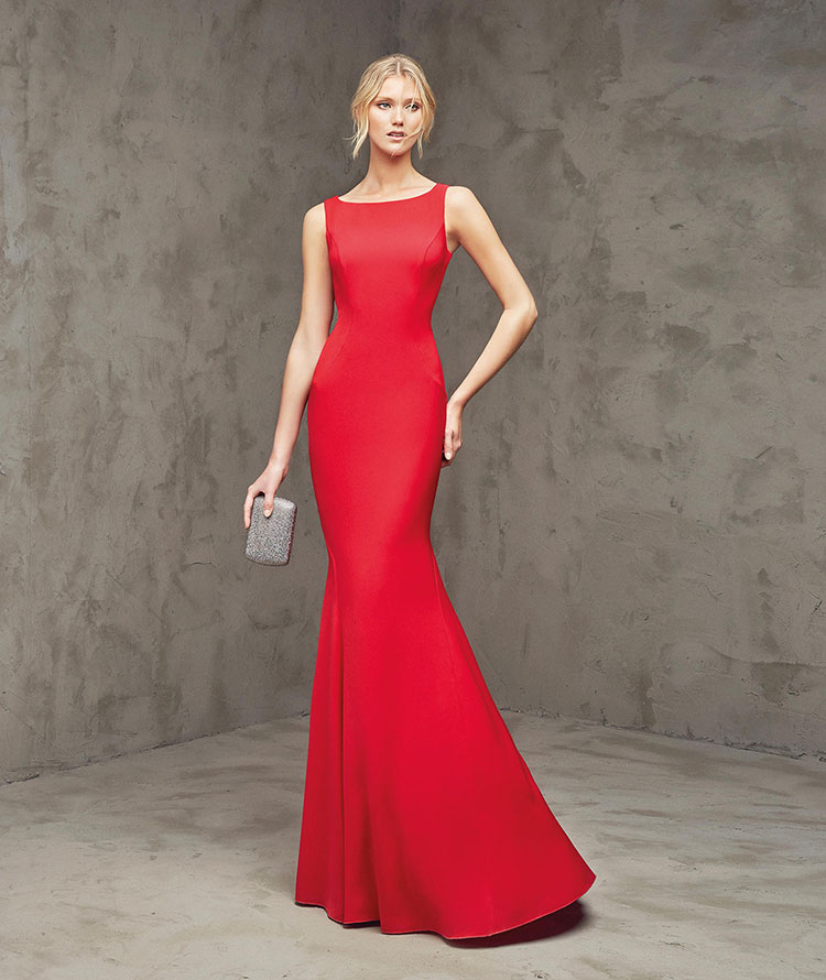 Vestidos rojos largos elegantes al cuerpo ajustados