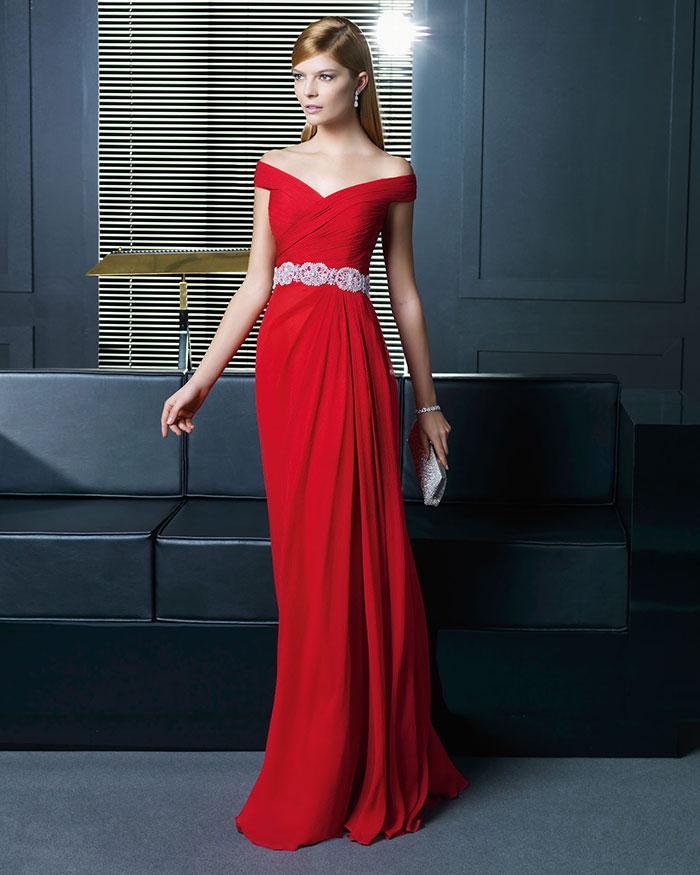 Vestidos rojos largos elegantes y escotado