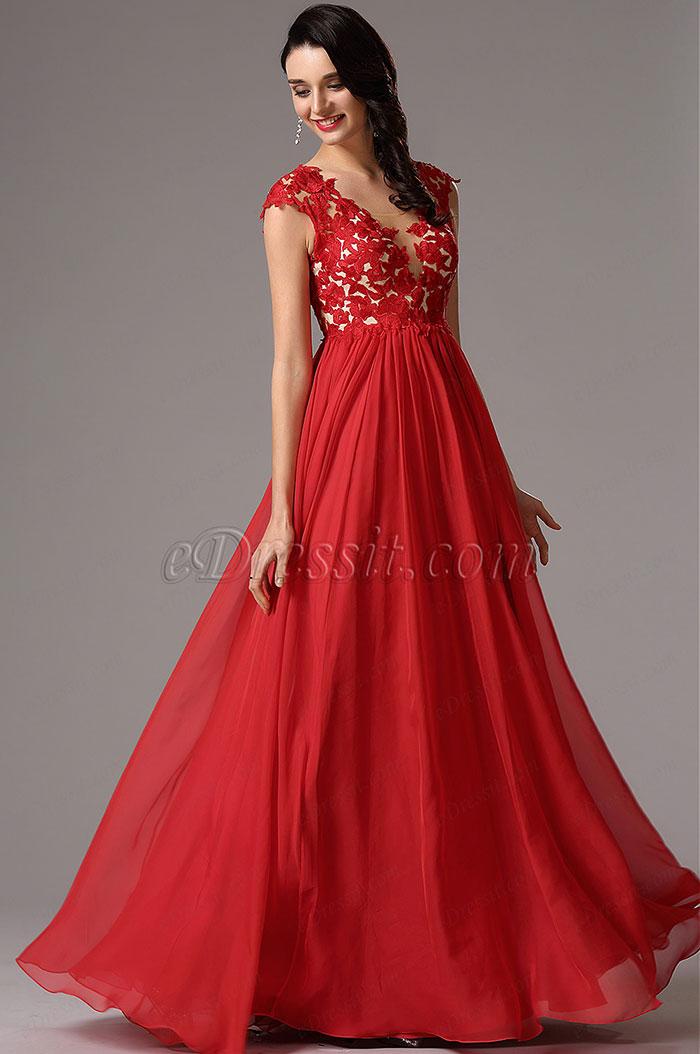 Vestidos de fiesta color rojo para gorditas