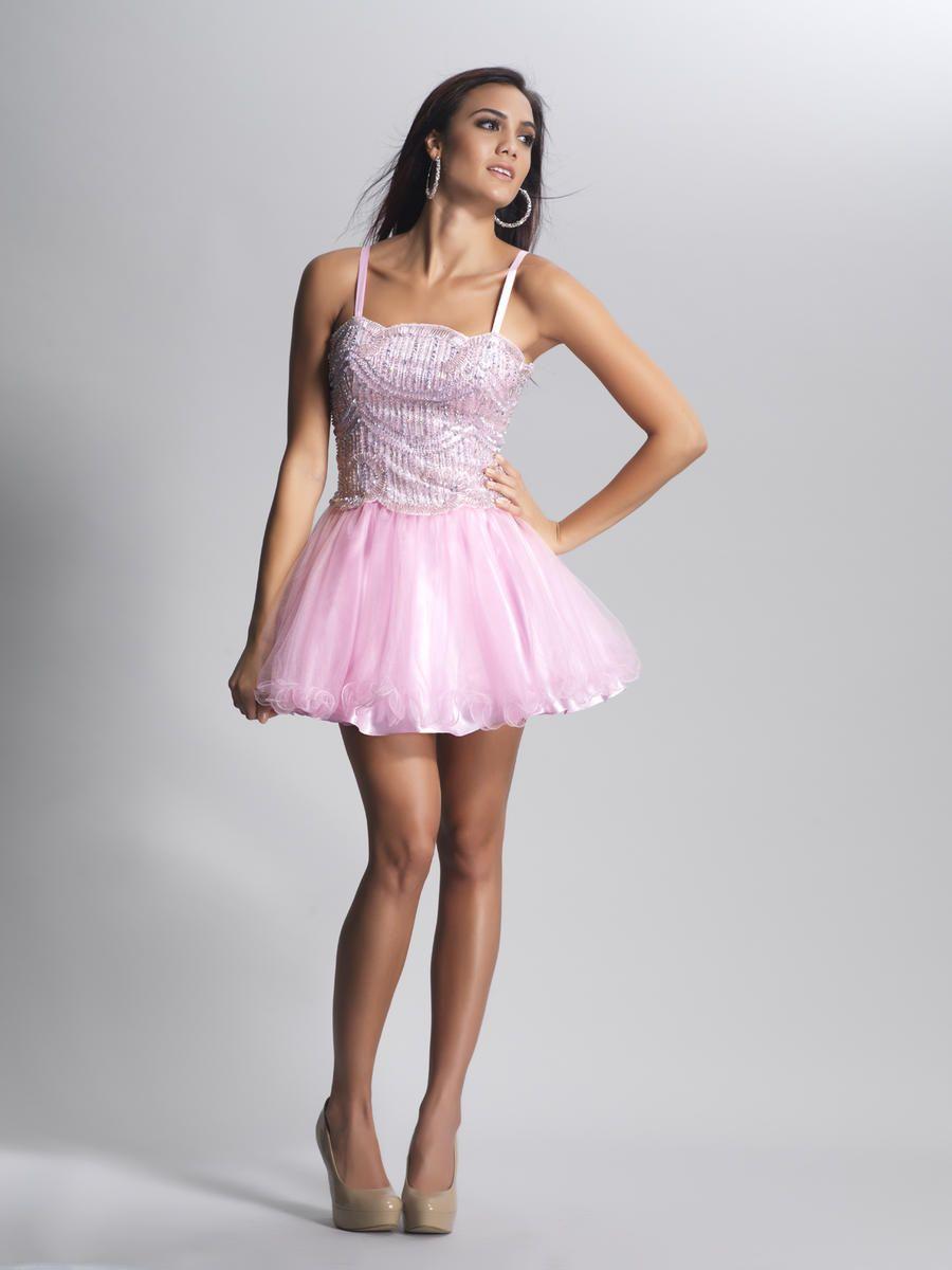 vestidos-rosa-corto-volados