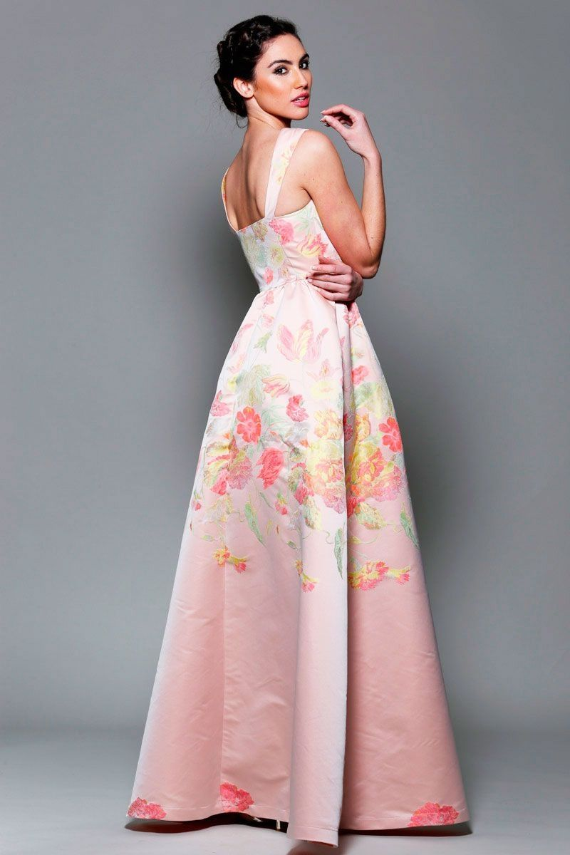 vestidos-rosa-floreado-largo