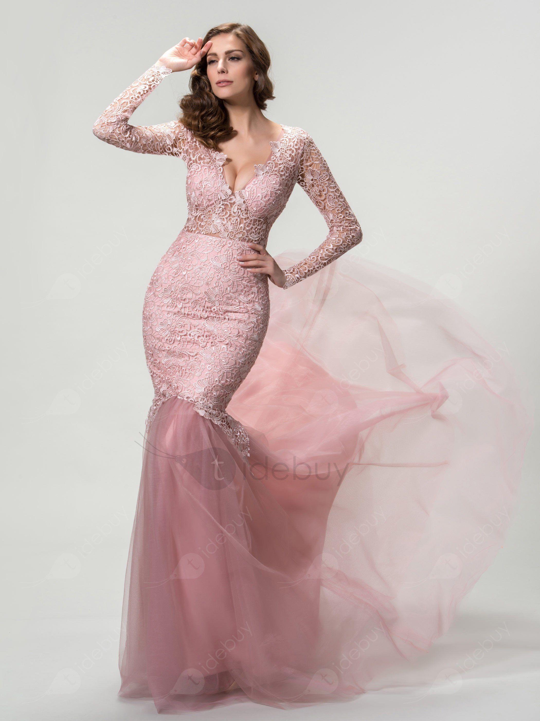 Lujo Vestidos De Color Rosa Claro Del Partido Patrón - Ideas de ...