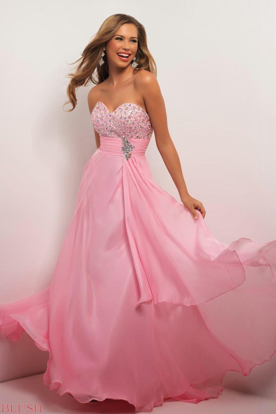 vestidos-rosa-volados-juvenil
