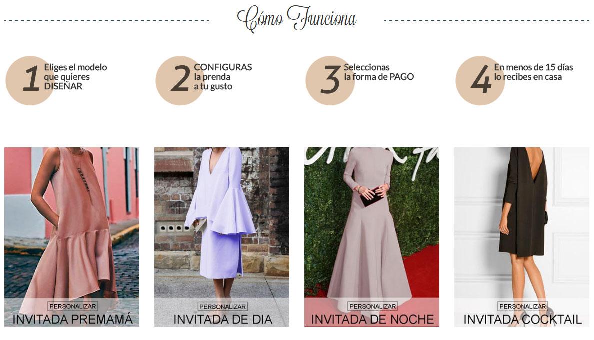 Web para diseñar tu propio vestido y recibirlo en tu casa en 15 días