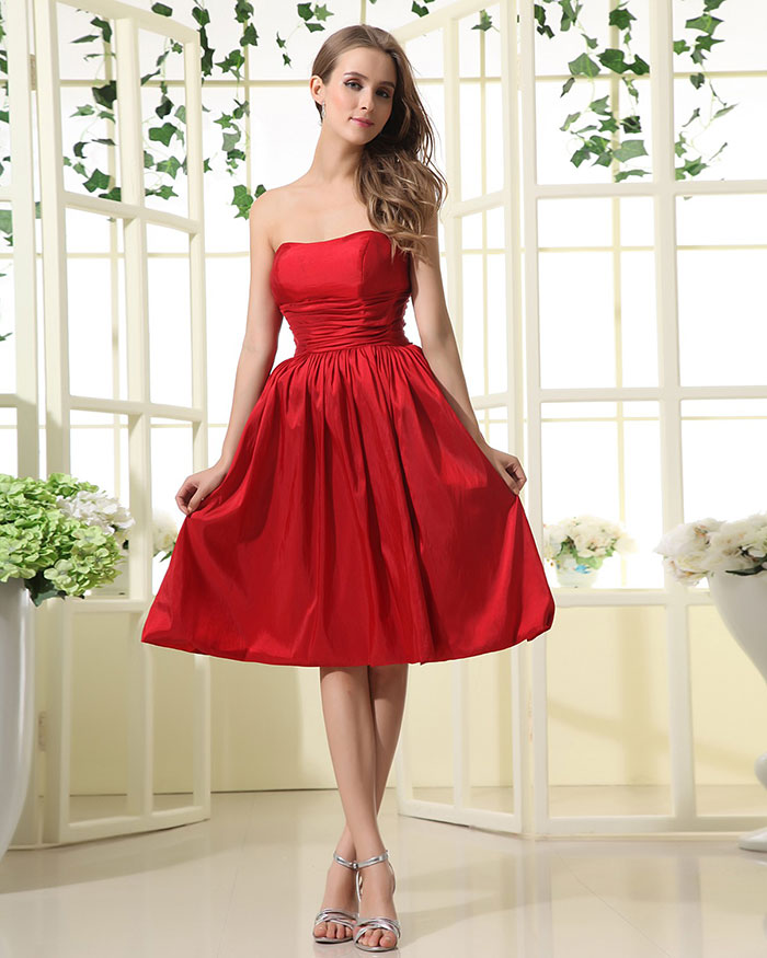 Resultado de imagen de Vestidos de dama rojos