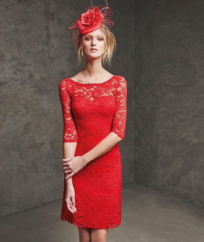 Glam Para 30 Rojo Color Vestidos En Fiesta Cortos cRq54L3Aj