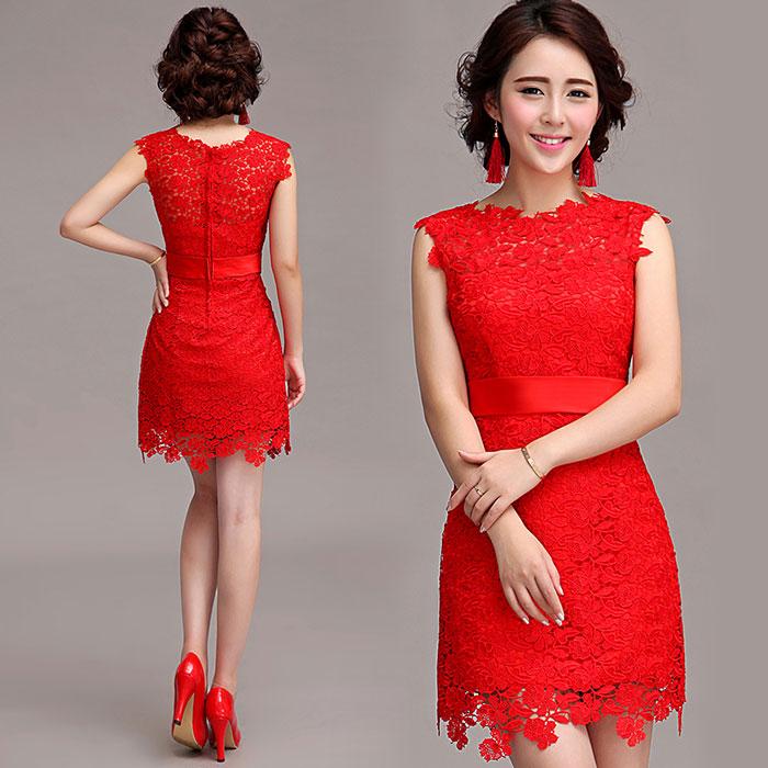 19788ff38a2d9 30 Vestidos cortos para fiesta en color rojo - Vestidos Glam
