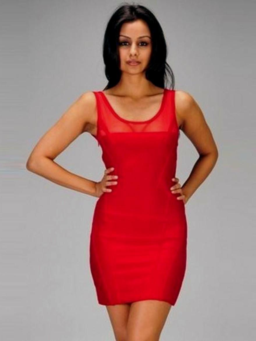Vestidos rojos cortos al cuerpo