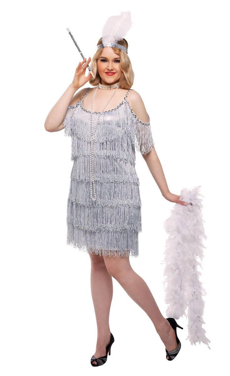 Vestidos plateados cortos para Gorditas clasico