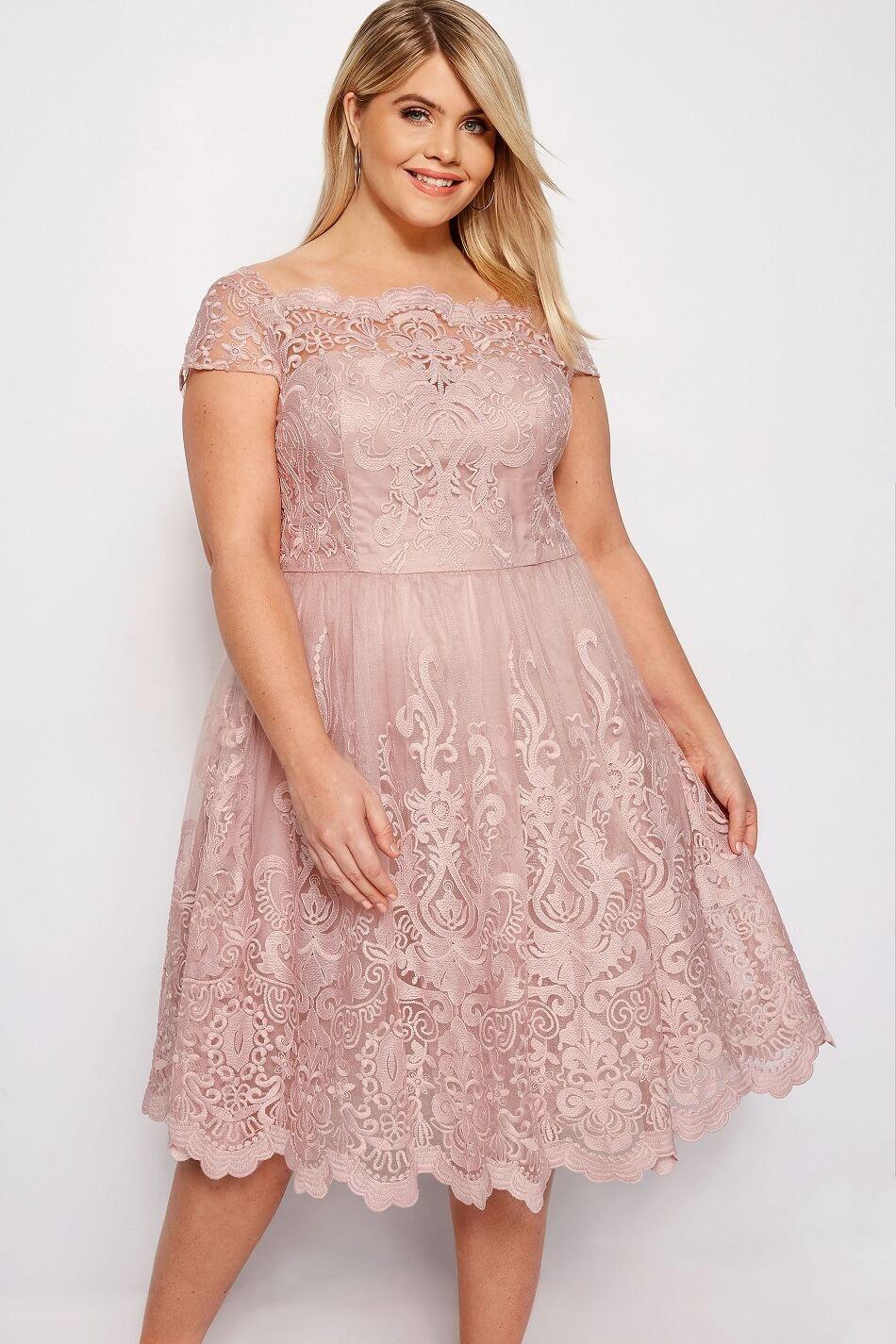 Vestidos rosa palo gorditas