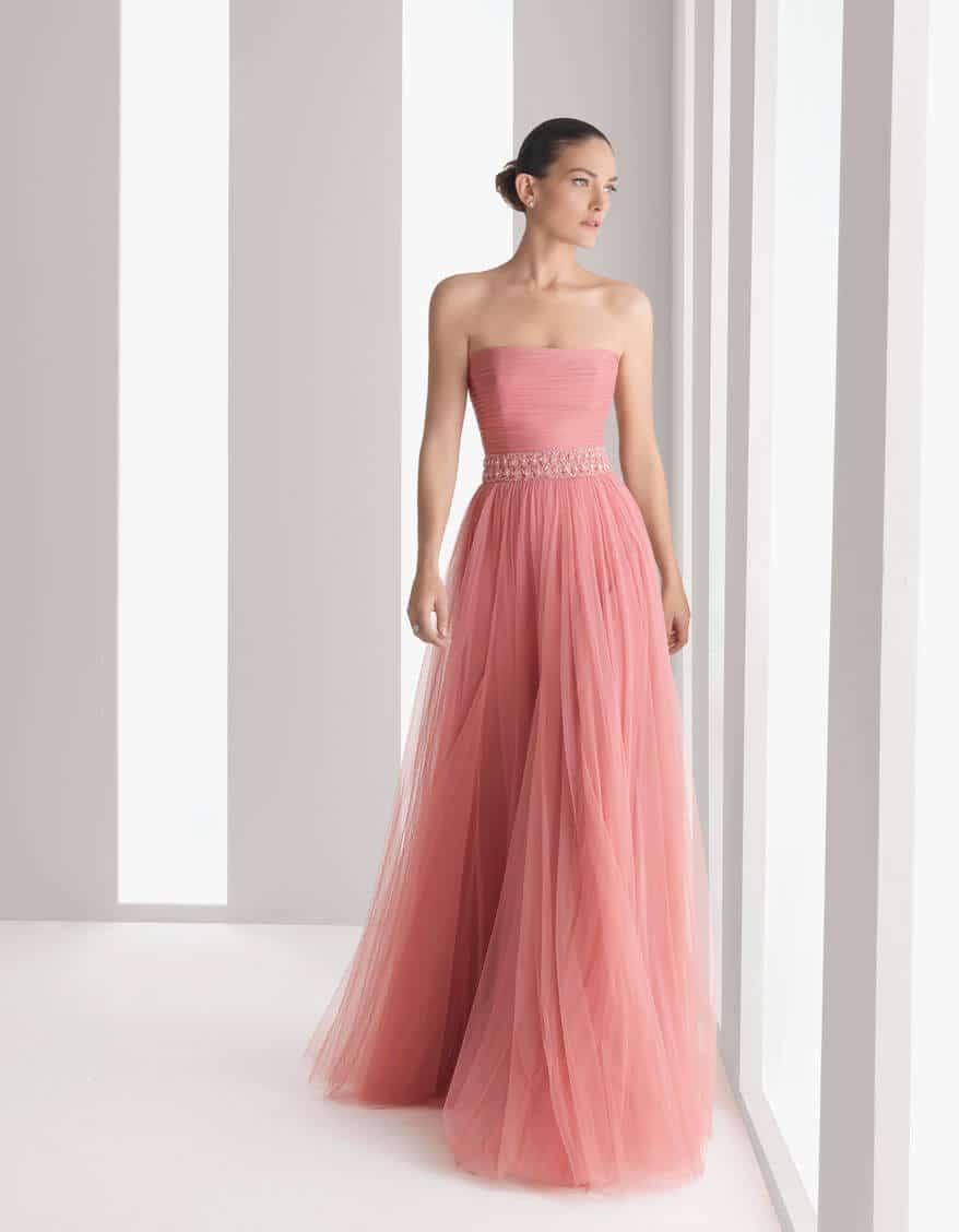 Vestidos rosa palo noche largo