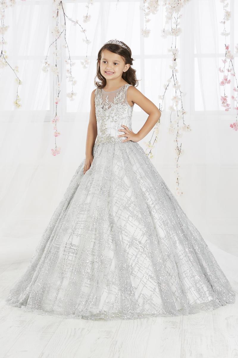 vestido plateado niñas princesa