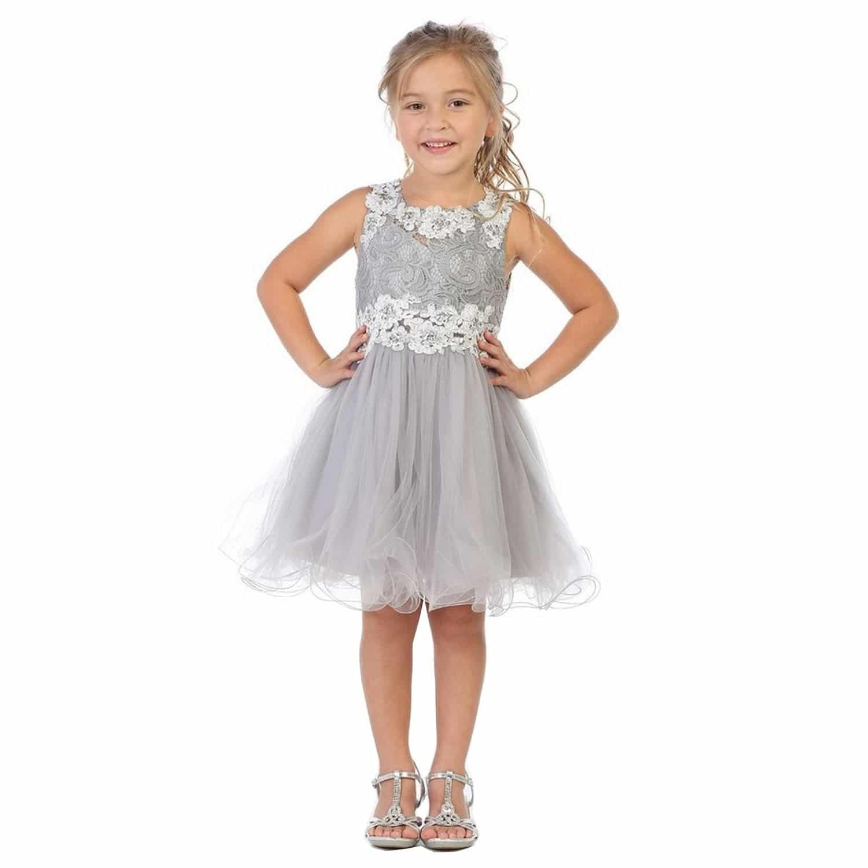 vestido plateado largos para niñas