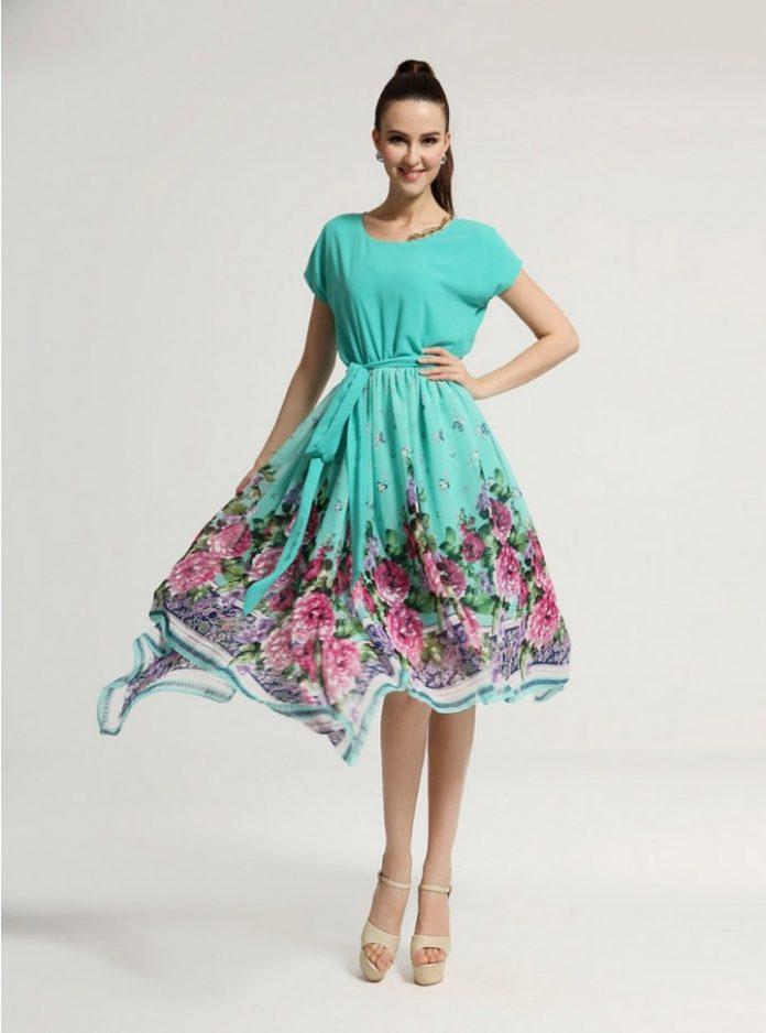 vestidos de falda ancha