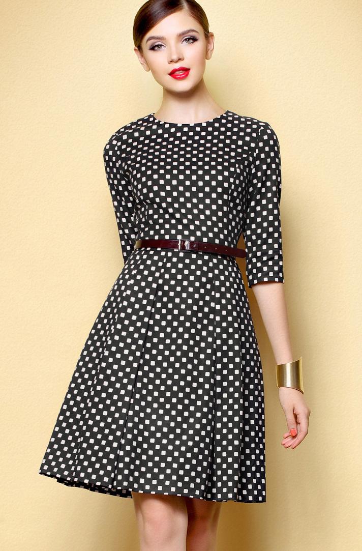 🥇 26 Vestidos de falda ancha ¡Muy a la moda! - Vestidos Glam