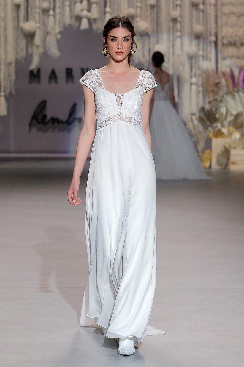 vestidos de novia sencillos boda de dia