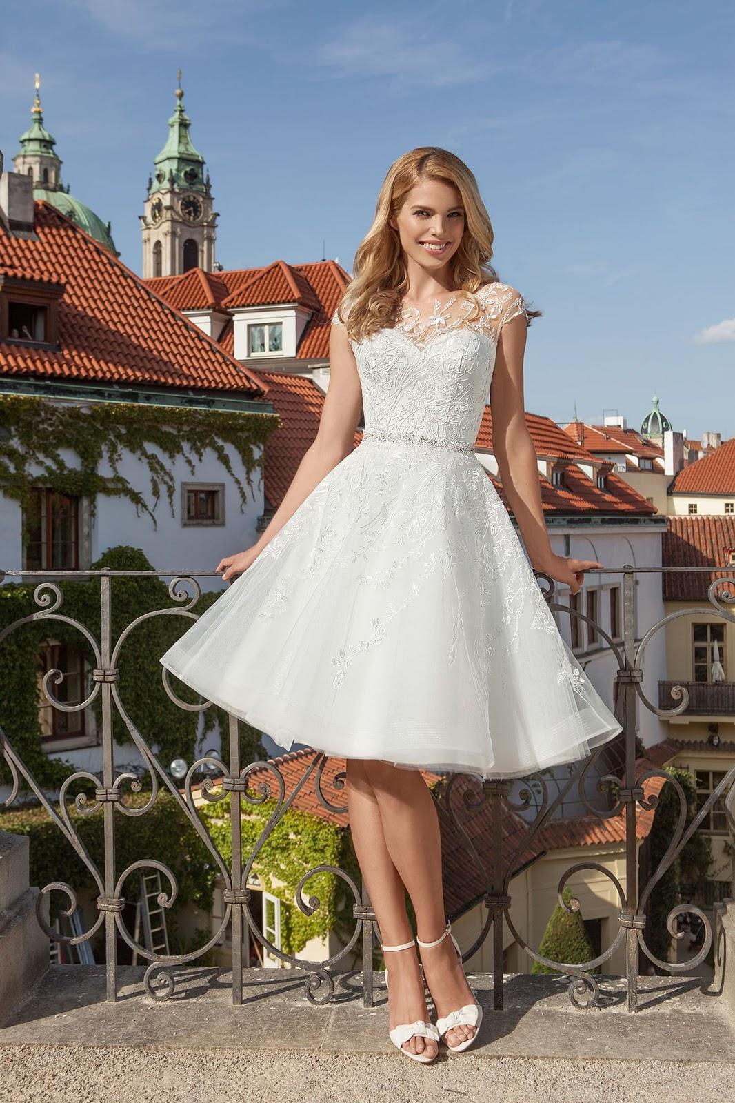 vestidos novia cortos boda de dia