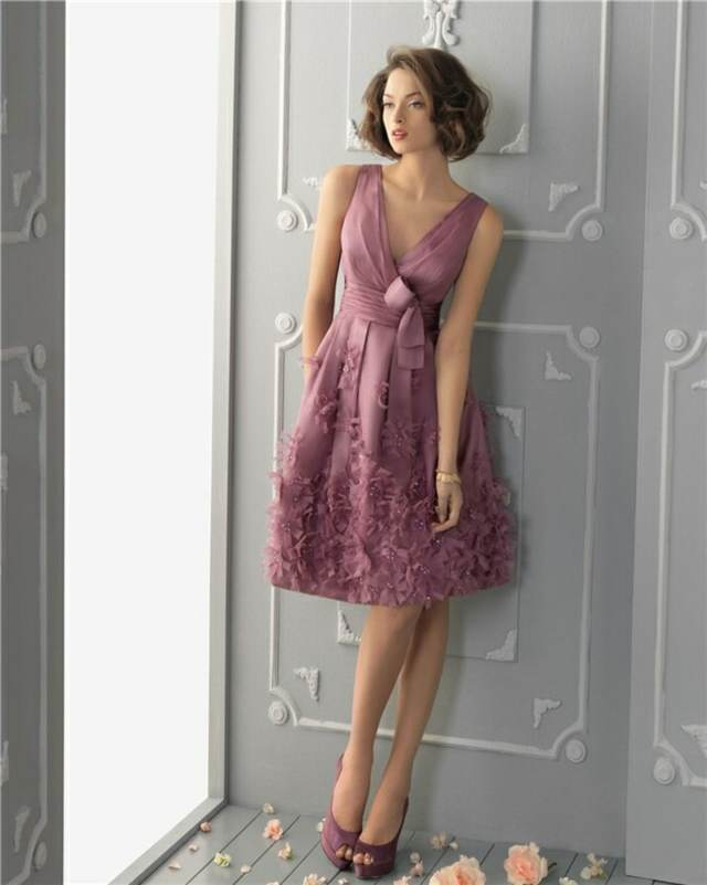 Vestidos Para Boda al Aire Libre Violeta
