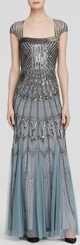 vestido plateado metalizado largo