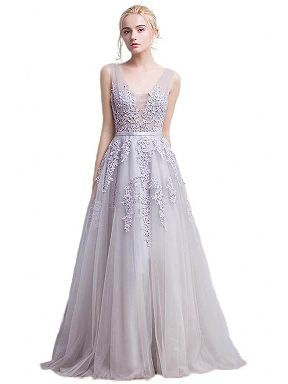 vestidos plateados largos para ninas bordados