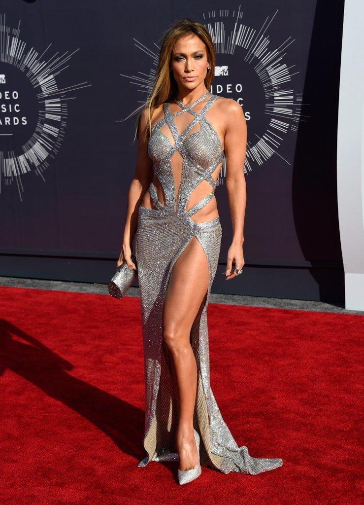 vestido plateado largo sexy