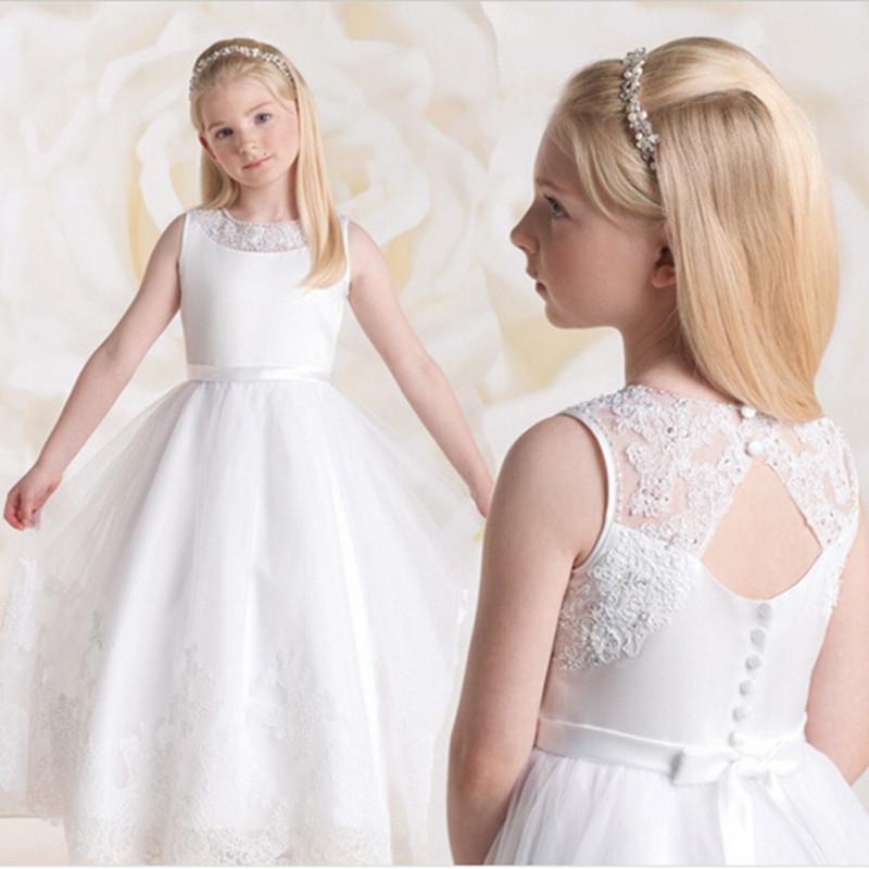 Modelos de vestidos largos para primera comunion