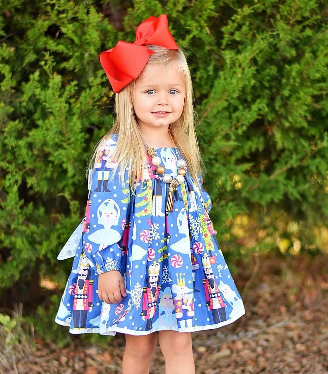 modelo de vestido de navidad para niñas