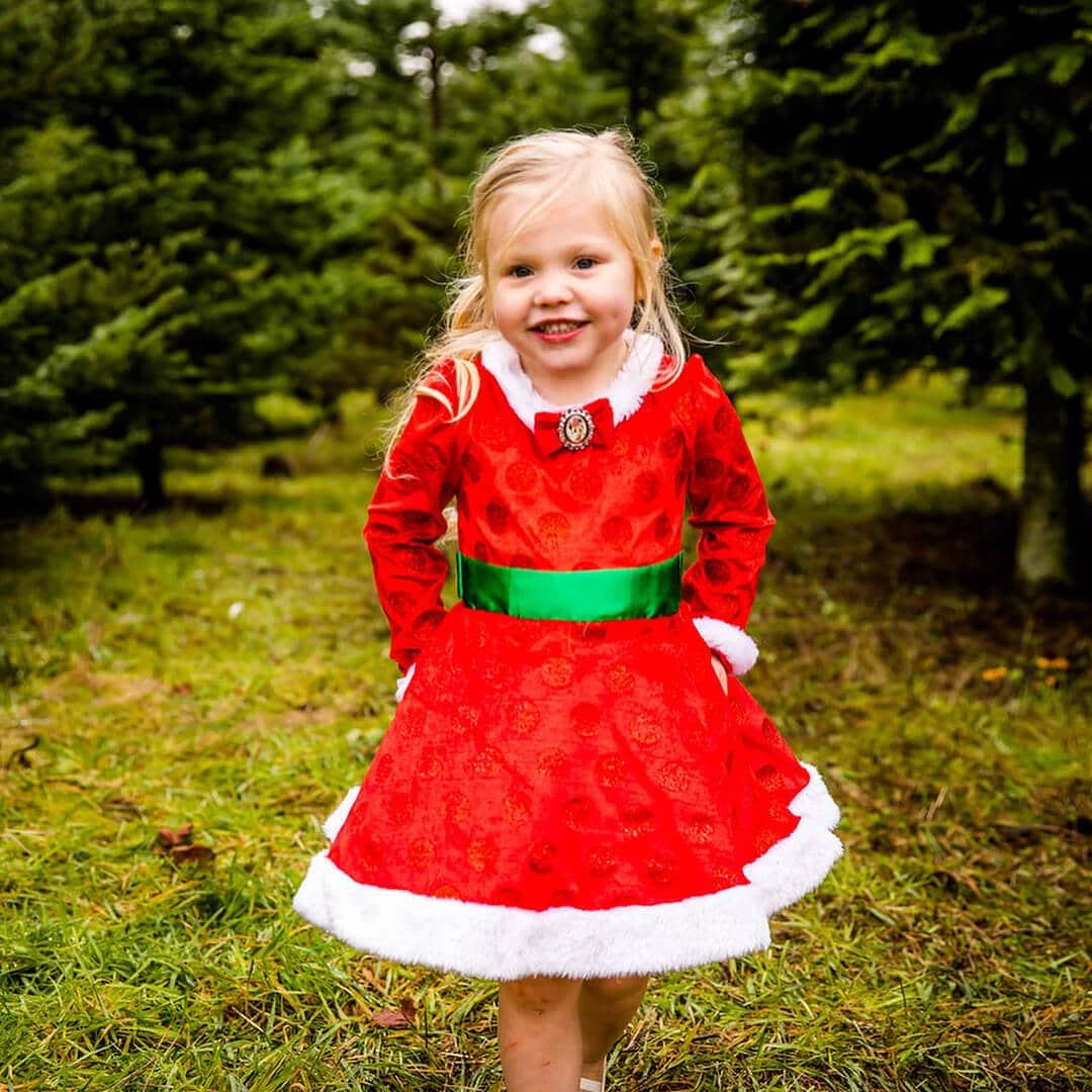 vestidito rojo de navidad para niña