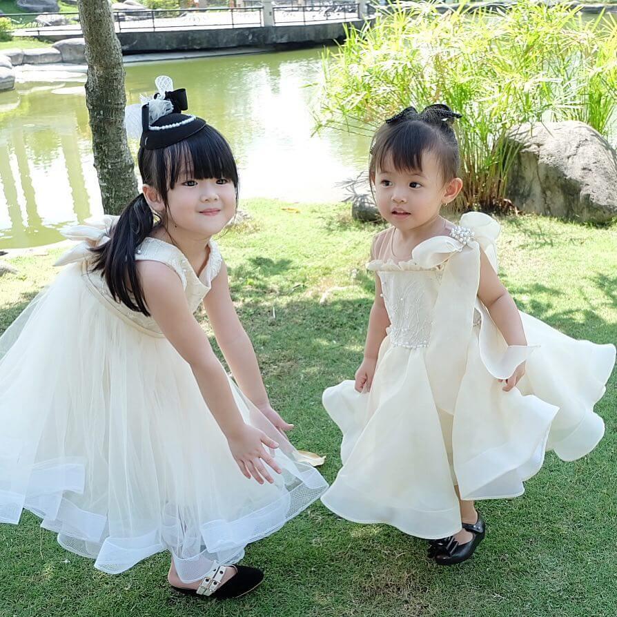 vestido blanco de navidad para niña