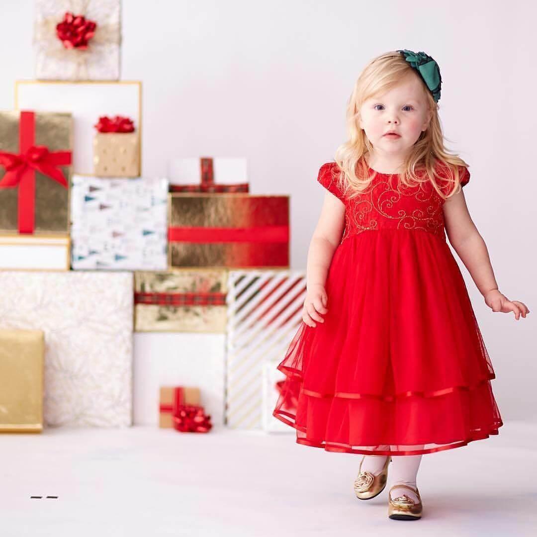 vestido de navidad para niña corte princesa