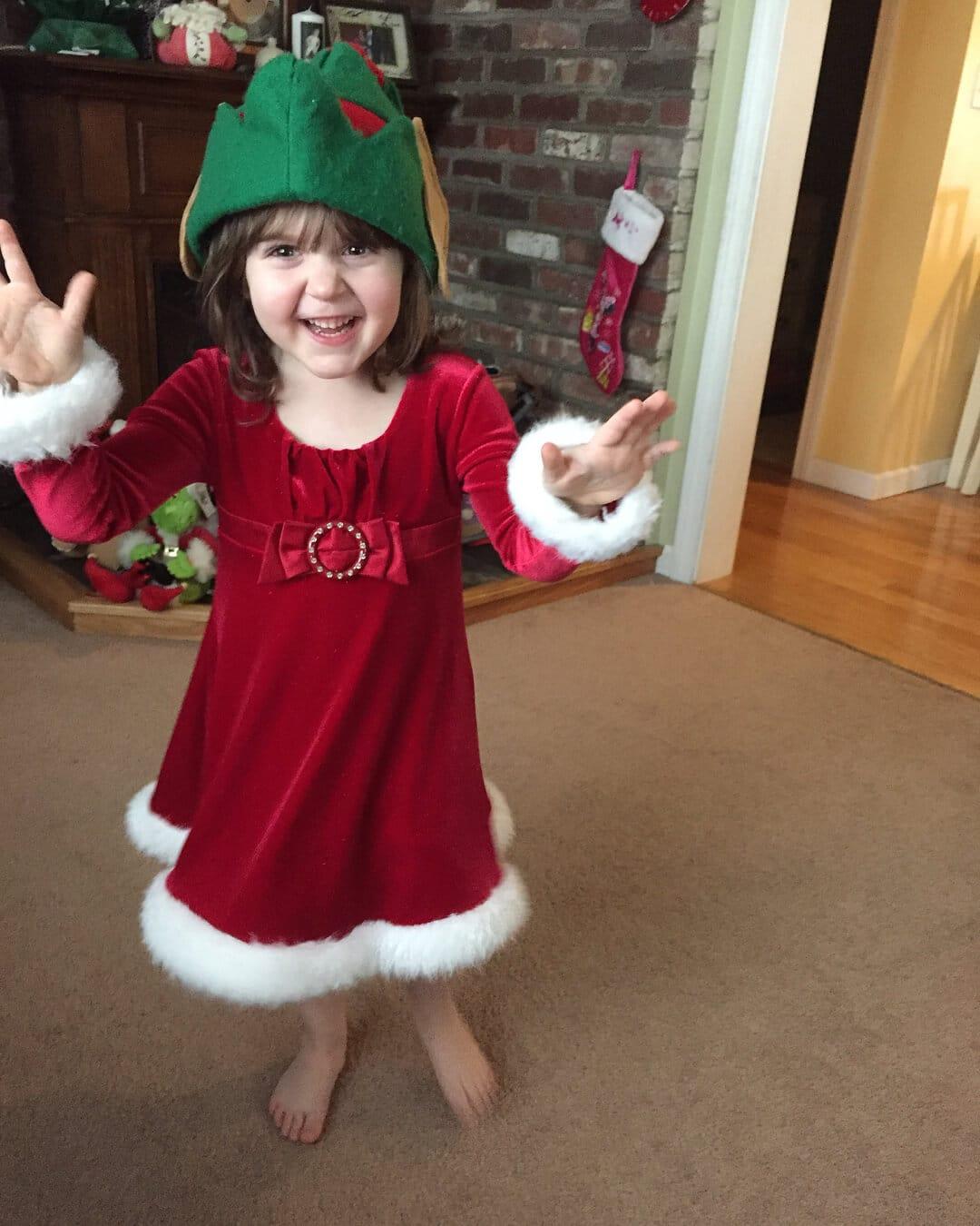 vestido de navidad rojo para niña